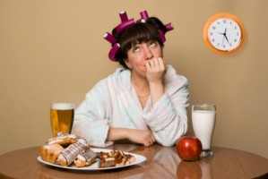 Woman failing on diet